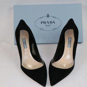 Prada Calzature donna heels in black suede, 39.5